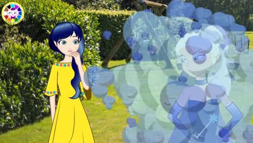 创意手工,给纸娃娃DIY精灵战士服饰去救王子,益智换装动画