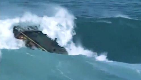 美军两栖战车测试视频:29吨庞然大物随海浪翻滚