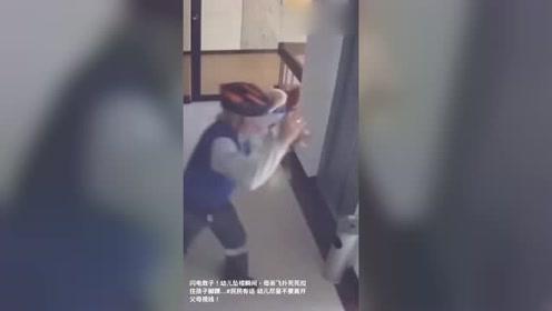 闪电救子:幼儿坠楼,母亲飞扑抓住孩子的脚