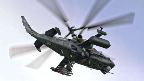 实拍卡52直升机玩超低空花式飞行,这才叫霸气
