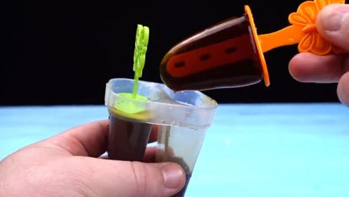 老外用可乐制作雪糕,能成功吗?网友:回家用水果试试
