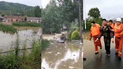 黑龙江尚志遭暴雨突袭,汹涌洪水冲走桥,3137人转移安置