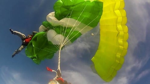 极限运动中的3大失误瞬间,跳伞绳子缠到一起,跑酷中一脚踩空