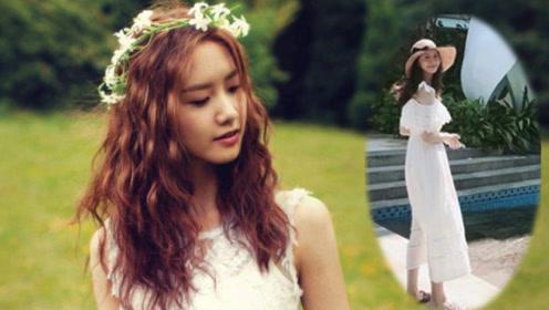 30岁林允儿晒素颜照被赞仙女,纯色裙装减龄满分