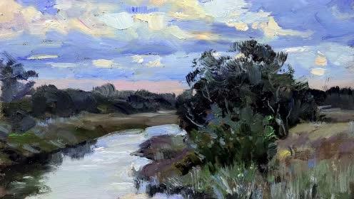 傅大力老师旅澳油画风景系列194河谷