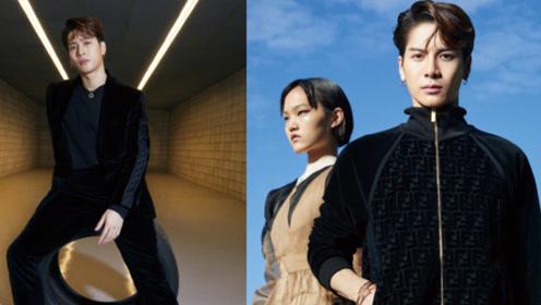 王嘉尔黑色系造型登时尚封面,运动街头和精致正装任意切换