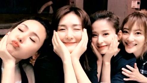 """""""妻子团""""齐聚上海,谢娜深夜请吃火锅,镜头前的四人微笑超甜"""