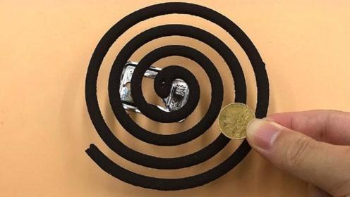 蚊香上面放一枚硬币,真是太聪明了,我也才知道诀窍,都学学吧
