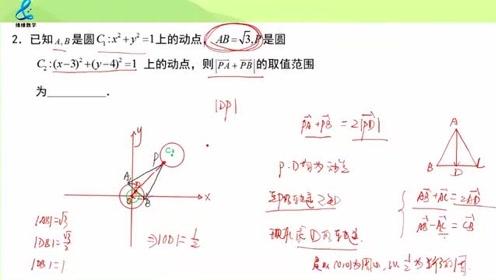 借助图形来解决向量问题,高中数学,每日一题第160题