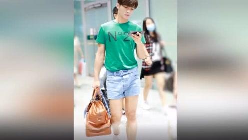 """炎亚纶穿""""三分裤""""现身机场,看到他的腿部轮廓,隔着屏幕都酸了"""
