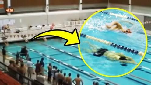 一口气!这个运动员因为他的海豚技术,赢得了游泳池冠军!