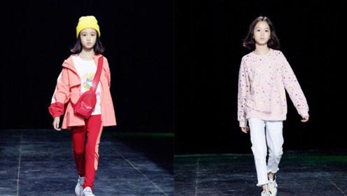 钟丽缇两个女儿走秀气场足,Jaden超模脸,考拉像妈妈