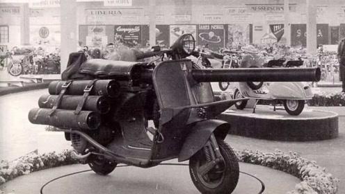 就地取材!联合国五常用摩托制成武器,主要给伞兵使用