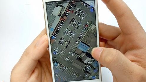 点击手机这里,普通地图秒变实景地图,自家屋顶都能看的一清二楚