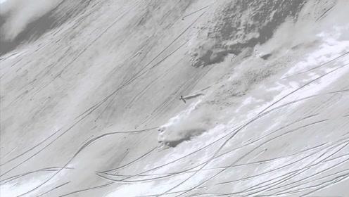 男子放松心情去滑雪,突然感觉身后不对劲,下一秒和死神赛跑!