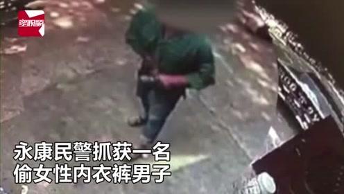 浙江奇葩男偷女性内衣裤当街塞裤裆里,被抓后辩称:是为了去霉运