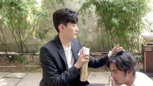 张翰晒视频宣布解锁新饭碗 变身发胶小王子动作娴熟利落