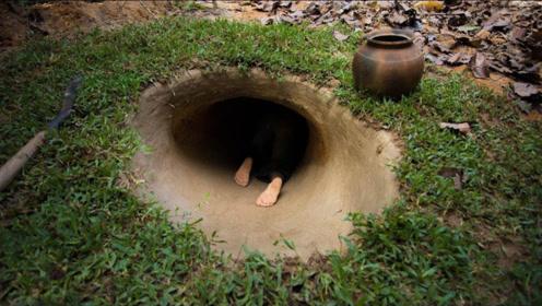 城里泡澡太贵,牛人地下挖出豪华澡堂,钻进去见识一下!