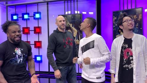 WWE明星奥斯丁和凯萨罗亲临LPL最新建成的转播大厅
