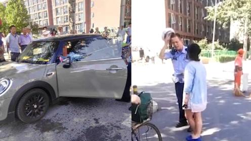女司机违停不听劝还用防狼喷雾袭警 警方:严重阻碍执法 刑拘!