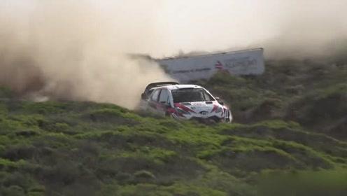 WRC2018意大利赛段,这样的碎石路面让我来只能开到20迈