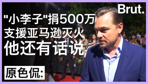 """""""小李子""""捐款500万支援亚马逊丛林灭火:他还有话说"""