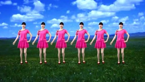 经典甜歌广场舞《粉红色的回忆》简单大气16步,好听好看又好学