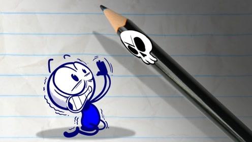死神盯上了铅笔人,结果却反遭捉弄,还沦落为铅笔人的保姆!