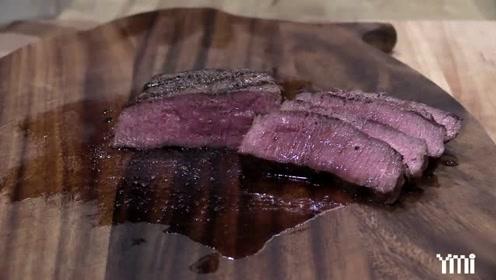 美式烤鸵鸟肉,看着比烤牛排都香,成品看的我馋出口水