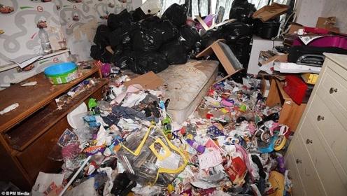 女租客将房子变成垃圾堆 现场不忍直视房东傻眼差点吐了