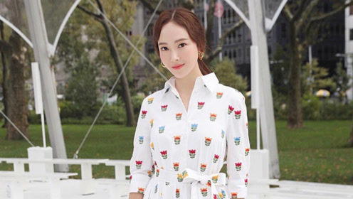 郑秀妍亮相时装周,一身优雅白气质绝佳,超高开叉大秀迷人长腿!