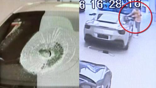小伙4S店抡锤猛砸300多万法拉利被批捕:为融资引起老板注意