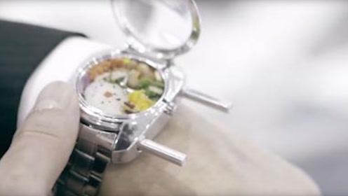 """日本打造""""快餐手表"""",表盘里藏着饭菜,肚子饿了直接打开吃!"""