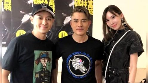 郭富城演唱会林志颖探班,合影中林志颖简直就像个刚刚成年的少年