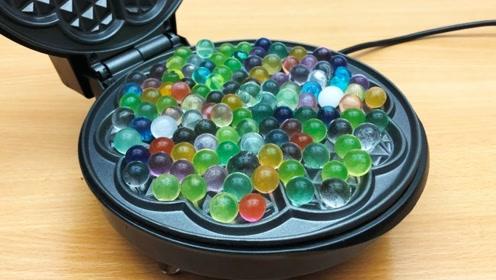趣味实验:把水晶球放进高温电饼铛里,竟然这么好看!