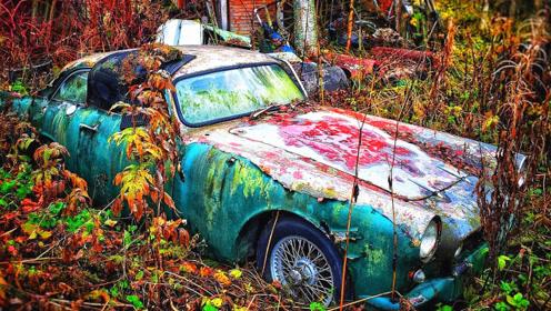 在深山里发现一辆报废汽车,掀开引擎盖一看,小伙倒吸一口凉气