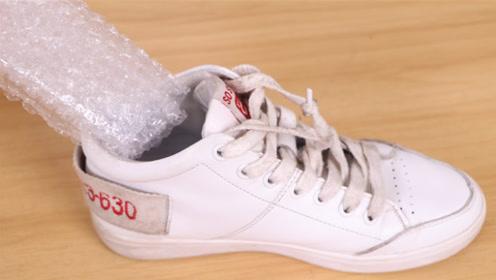 抓紧在鞋里放一块气泡膜,原来这么厉害,后悔才知道,都学学