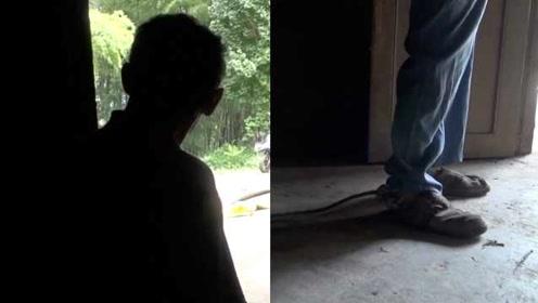 男子先天智力残疾,被绳栓45年,78岁母亲:照顾到自己终老