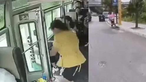 视频曝光!客车行驶中车门未关,女子忽然起身纵身跳下车身亡