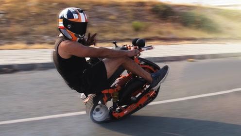 老外脑洞大开,自制迷你履带摩托车,成品却让人惊艳!