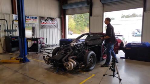 5千多匹马力的车是啥概念?老外爆改雪佛兰测试,这轮胎离地了?