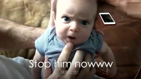 有个逗比爸爸什么体验?爸爸给宝宝的表情加配音,这一幕要笑疯了