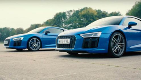 车重真的会影响动力吗?奥迪R8单挑R8 Plus,这就是差距