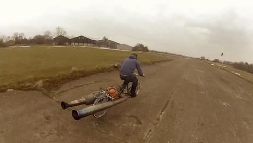 国外牛人爆改喷气式自行车,速度有小车快?网友:果然高手在民间