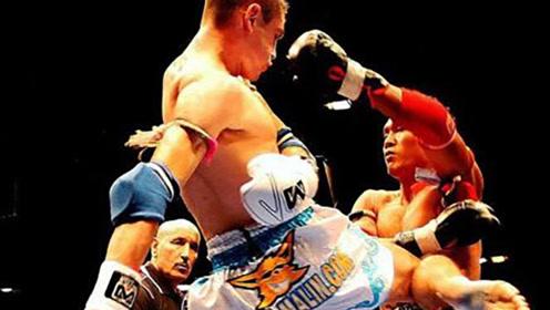 倒地后他一膝爆头KO对手,这一膝引发争议,大侠认为算不算犯规