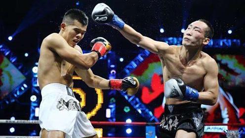 中国两大泰拳手擂台火拼,决战全场,肘膝拳疯狂对轰!