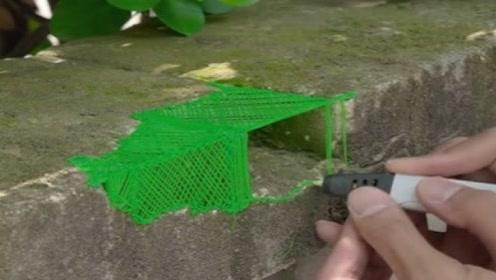 路边墙角坏了,3D打印笔修复毫无违和感,网友:比方便面强