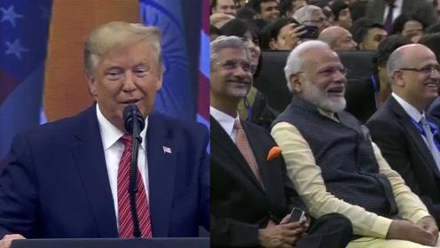 """现场!特朗普向莫迪""""求参加""""印度首场NBA比赛:我可能会去哦"""