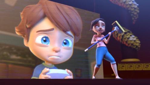 男孩痴迷打游戏,导致妈妈误入虚拟世界,俩人精妙配合成功闯关!