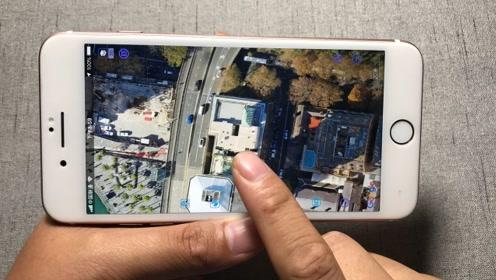 手机地图打开这里,导航查地点精确到米,就连自家房顶都能看见